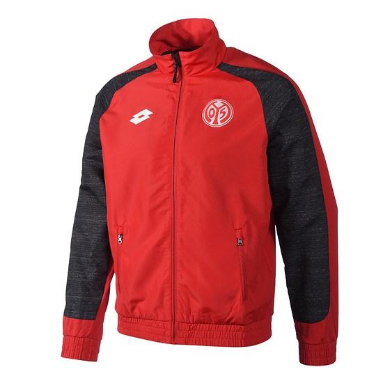 Lotto FSV Mainz 05 Jacke Off rot/schwarz