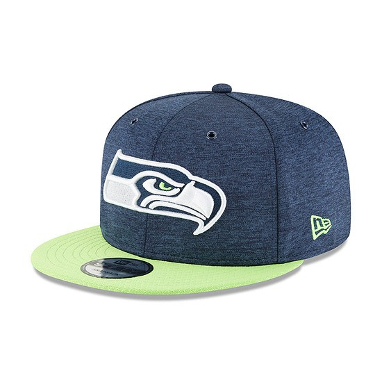 New Era Seattle Seahawks Cap 9FIFTY Sideline 2018 blau