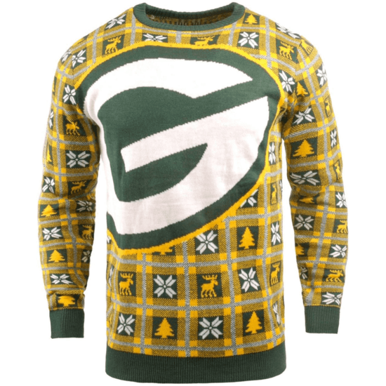 Forever Collectibles Green Bay Packers Ugly Sweater Big Logo grün