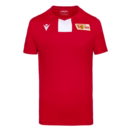 Macron 1. FC Union Berlin Trainingsshirt 2019/2020 rot/weiß