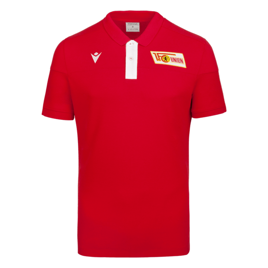 Macron 1. FC Union Berlin Trainingsshirt Fresh rot/weiß