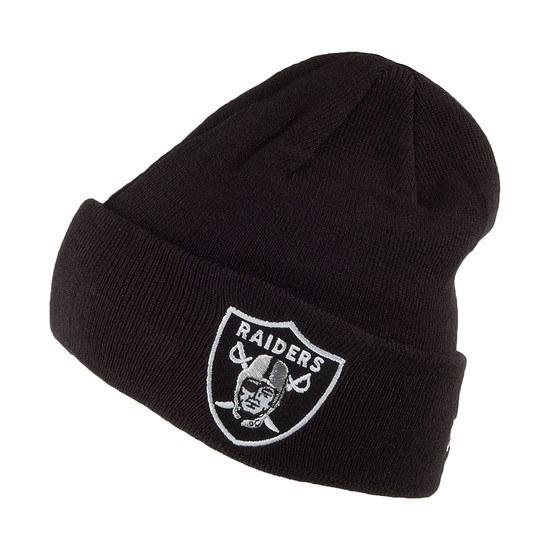 New Era Oakland Raiders Beanie Team Essential Cuff schwarz