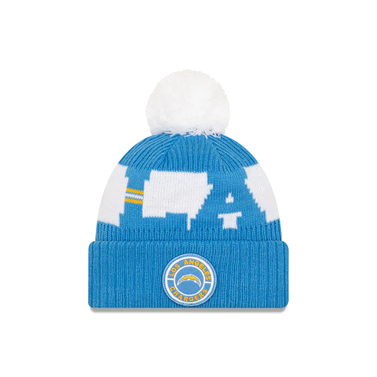 New Era Los Angeles Chargers Beanie On Field Sport Knit blau