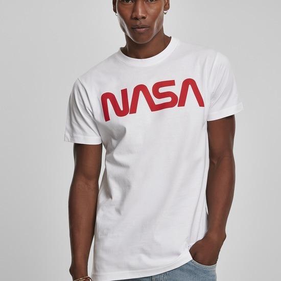 Mister Tee T-Shirt NASA Worm weiß