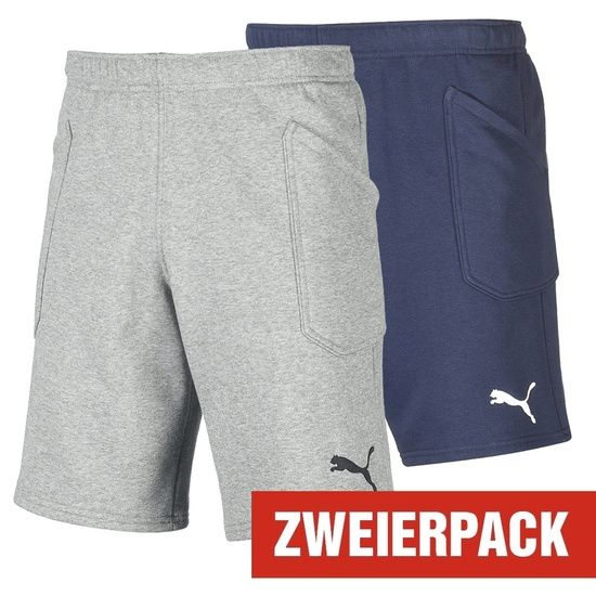 Puma Shorts LIGA Set 2er Pack Grau/Dunkelblau