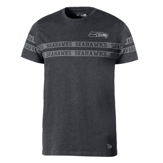 New Era Seattle Seahawks T-Shirt Tonal Black grau/schwarz