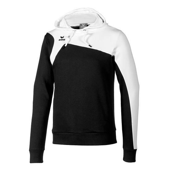 Erima Hoodie Club 1900 schwarz/weiß