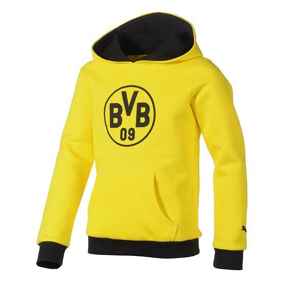 Puma Borussia Dortmund Hoodie Logo BVB Kinder Gelb