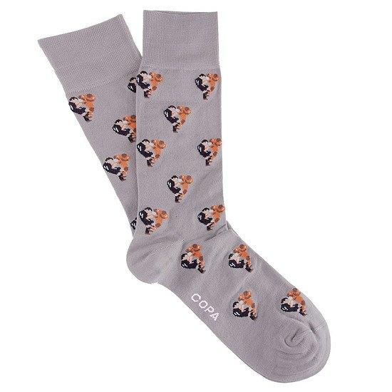 Copa Socken Flying Tackle grau