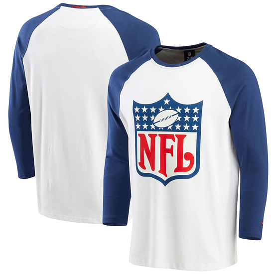 Fanatics NFL Shield T-Shirt True Classics 3/4 weiß