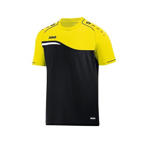 Jako T-Shirt Competition 2.0 schwarz/neongelb