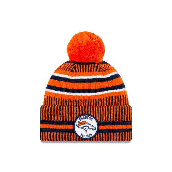 New Era Denver Broncos Beanie On Field Sport Knit HM orange