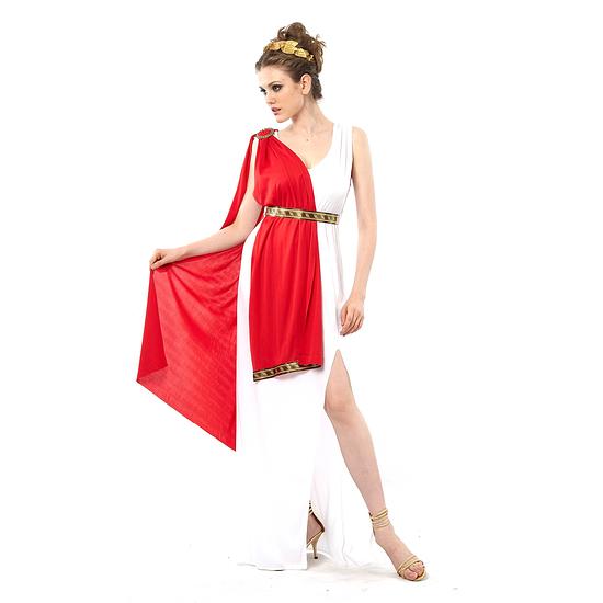 Karnevals- Kostüm Elegante Göttin Antike Damen rot/schwarz/weiß