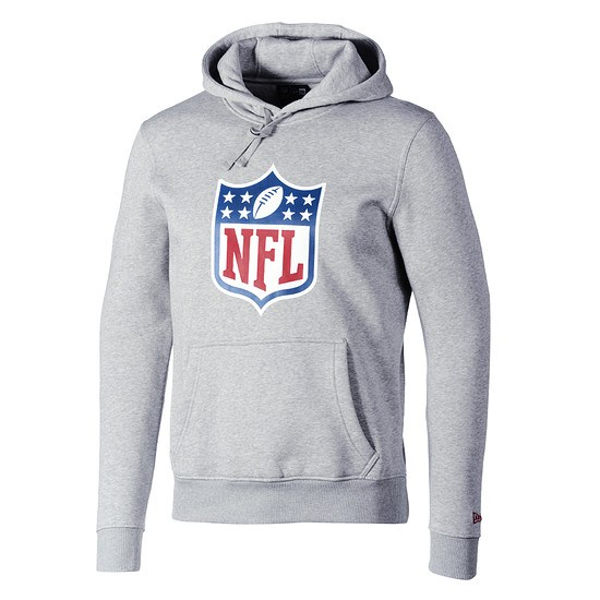 New Era NFL Shield Hoodie Team Logo hellgrau