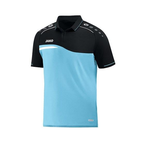 Jako Poloshirt Competition 2.0 aqua/schwarz