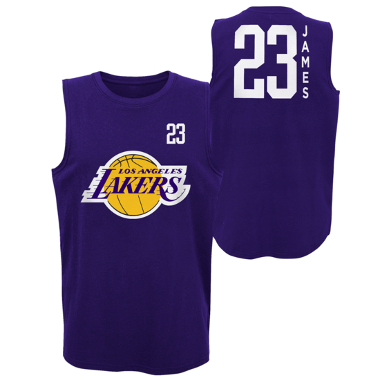 Outerstuff EMEA Los Angeles Lakers Tanktop Lebron James All Net Basic lila