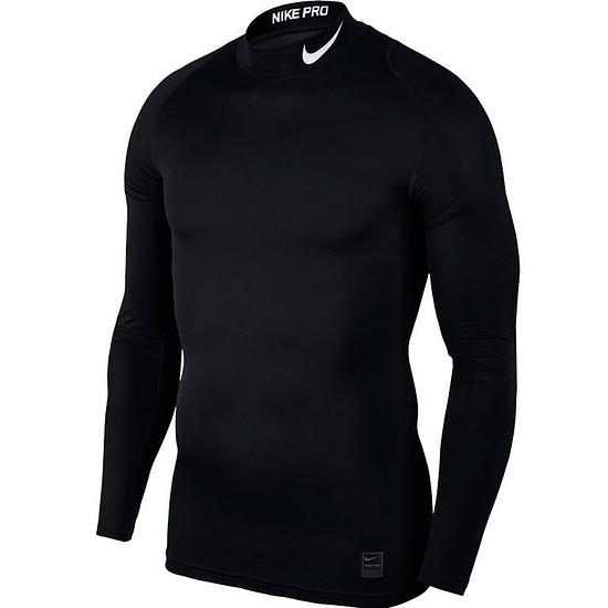 Nike Pro Langarmshirt Top Compression Mock Schwarz
