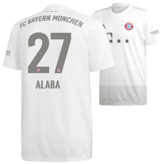 Adidas FC Bayern München Auswärts Trikot ALABA 2019/2020