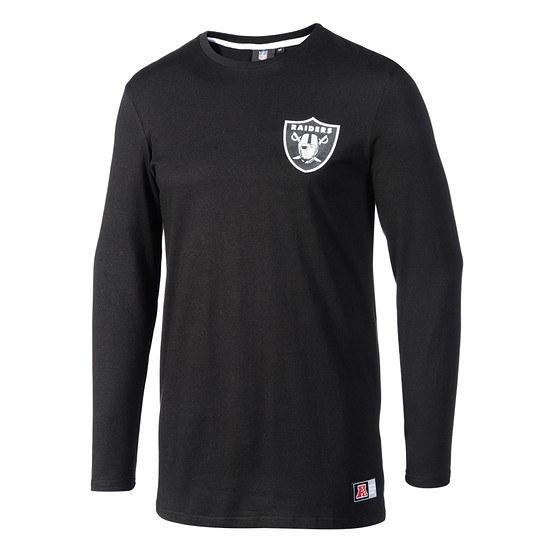 Majestic Athletic Oakland Raiders Longsleeve Longline schwarz