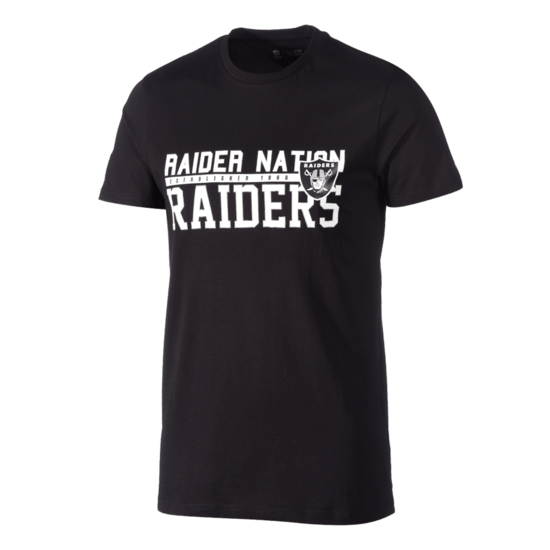 New Era Las Vegas Raiders T-Shirt Stacked Wordmark schwarz