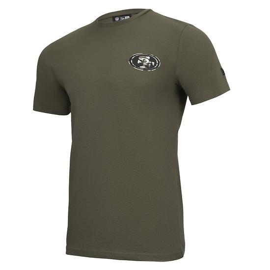 New Era San Francisco 49ers T-Shirt Camo Injection grün