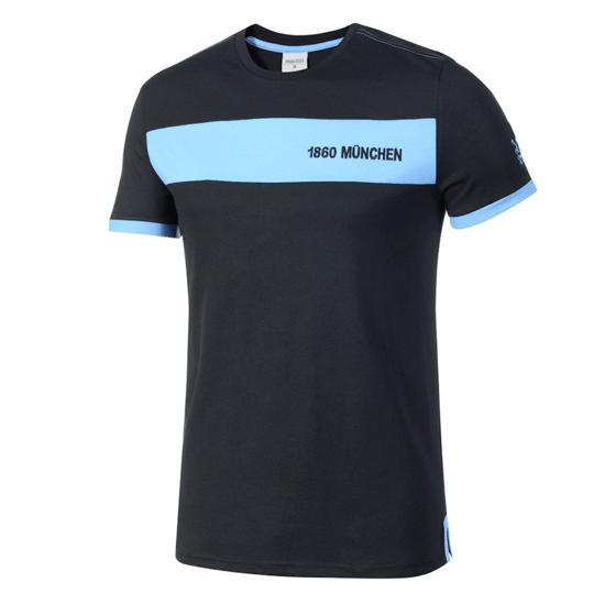 Macron TSV 1860 München T-Shirt Fanline schwarz/blau