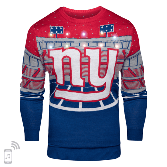 Forever Collectibles New York Giants Ugly Sweater Bluetooth blau/rot