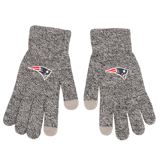 Forever Collectibles New England Patriots Strickhandschuh Gray grau