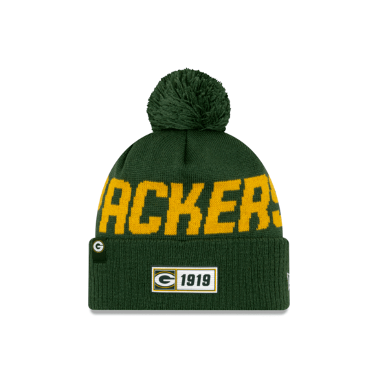 New Era Green Bay Packers Beanie On Field Sport Knit RD grün