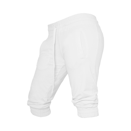 URBAN CLASSICS Capripants French Terry Damen Weiß
