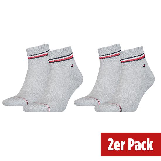 Tommy Hilfiger Socken 2er Pack ICONIC QUARTER Hellgrau