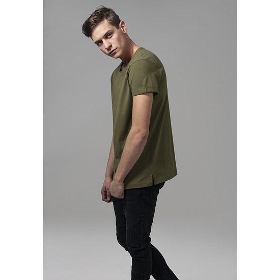 URBAN CLASSICS T-Shirt TurnUp olive