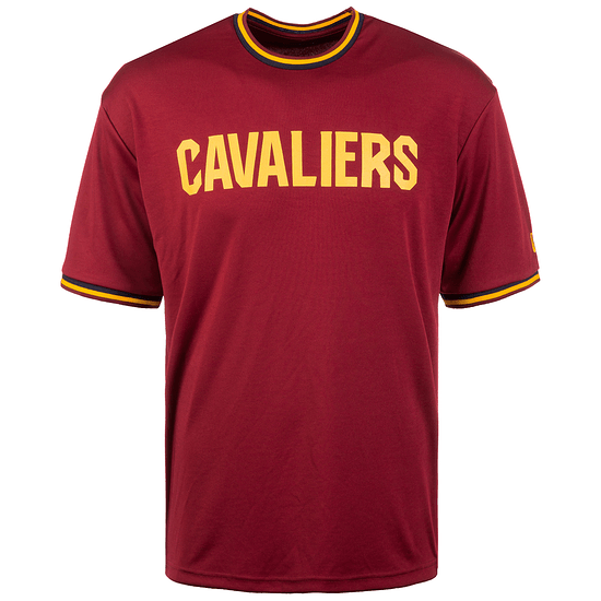 New Era Cleveland Cavaliers T-Shirt Tipping Wordmark rot/gelb