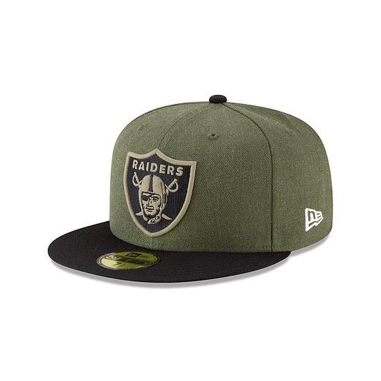 New Era Oakland Raiders Cap 59FIFTY Salute To Service grün