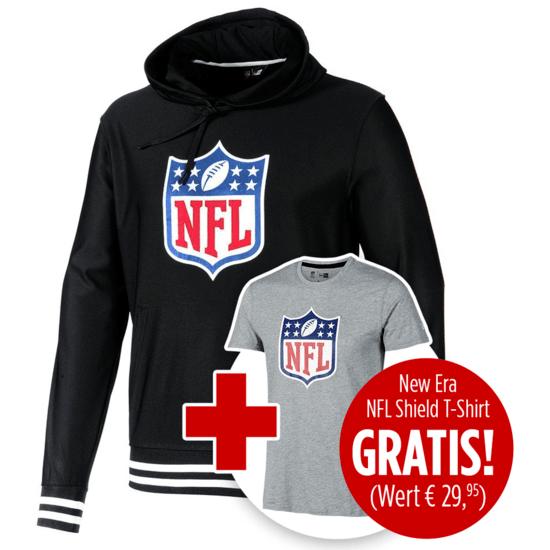 New Era Hoodie NFL Shield inklusive T-Shirt NFL Shield Logo