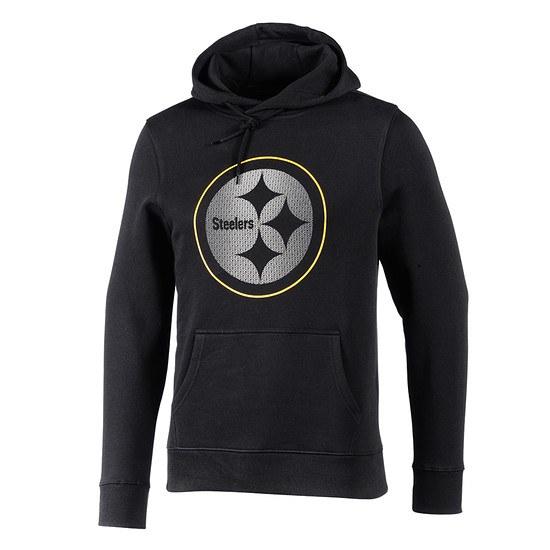 Majestic Athletic Pittsburgh Steelers Hoodie Reiser schwarz