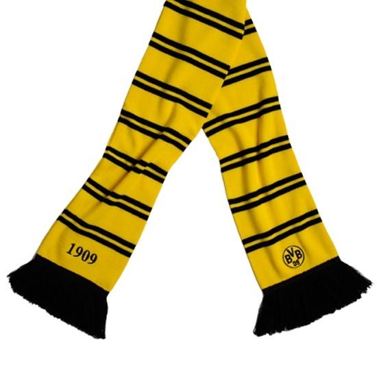 """Borussia Dortmund BVB Schal """"Ringel"""" Gelb"""