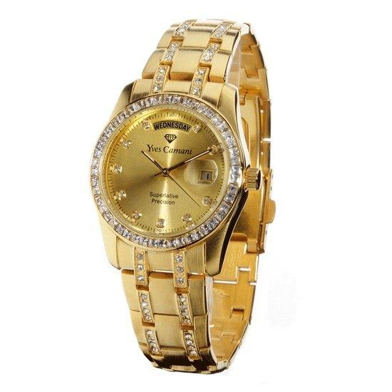 Yves Camani Auron Gold Damen Armbanduhr