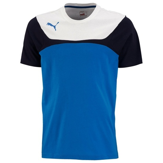 Puma T-Shirt Leisure blau/weiß