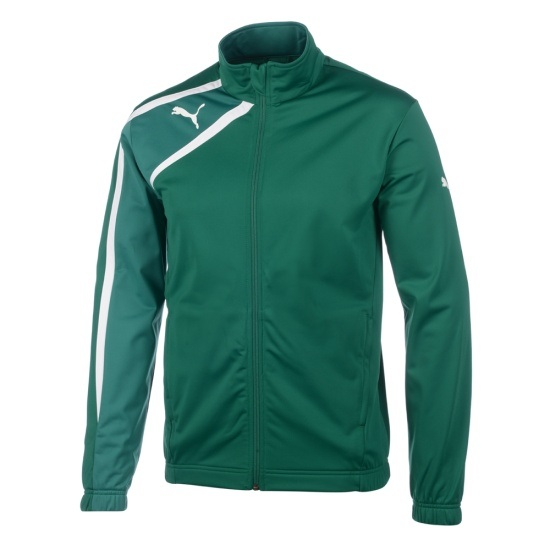 Puma Trainingsjacke Spirit Poly grün/weiß