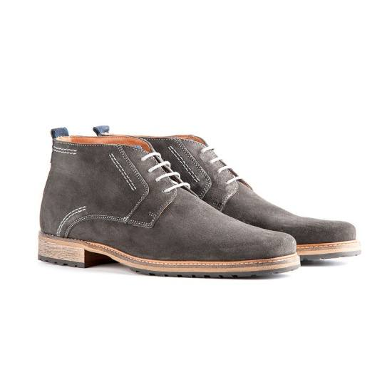 TRAVELIN OUTDOOR Boot London Suede dunkelgrau