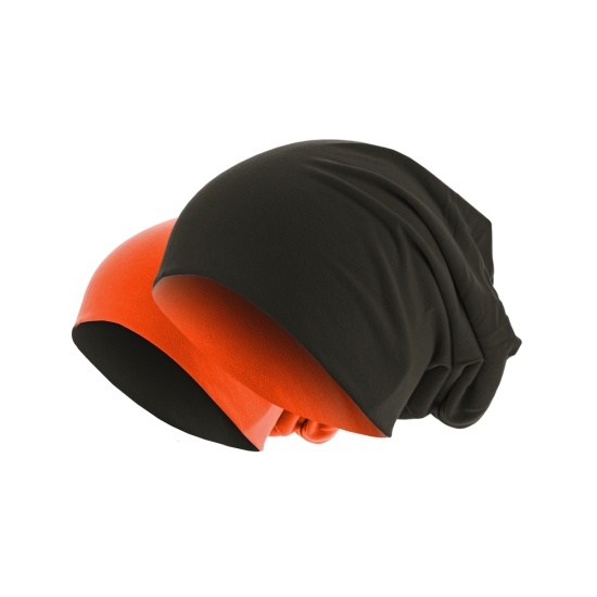 MasterDis Jersey Beanie reversible braun/orange