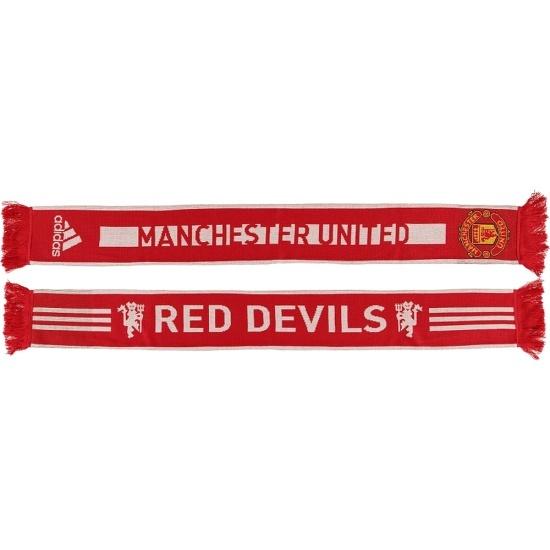 Adidas Manchester United Schal Rot/Weiß