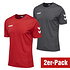 hummel 2er Set T-Shirt Core Poly Grau/Rot (1)