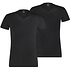 Puma T-Shirt 2er Pack V-Neck Schwarz (1)