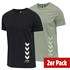 hummel 2er Set T-Shirt Duncan Bio-Baumwolle schwarz/vetiver