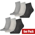 Puma Socken 6er Pack Low SW/Grau/Anthrazit
