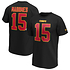 Fanatics Kansas City Chiefs T-Shirt Iconic N&N Mahomes 15 schwarz