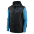 Nike Carolina Panthers Kapuzenjacke Therma Left Chest Mascot schwarz/tidal blue (1)