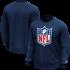 Fanatics NFL Shield Sweatshirt Logo Graphic navy (1)